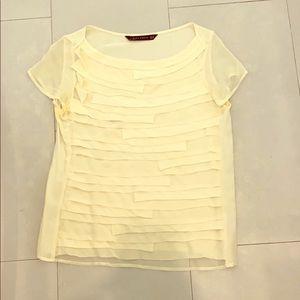 Zara Tops - Cream colored blouse by Zara